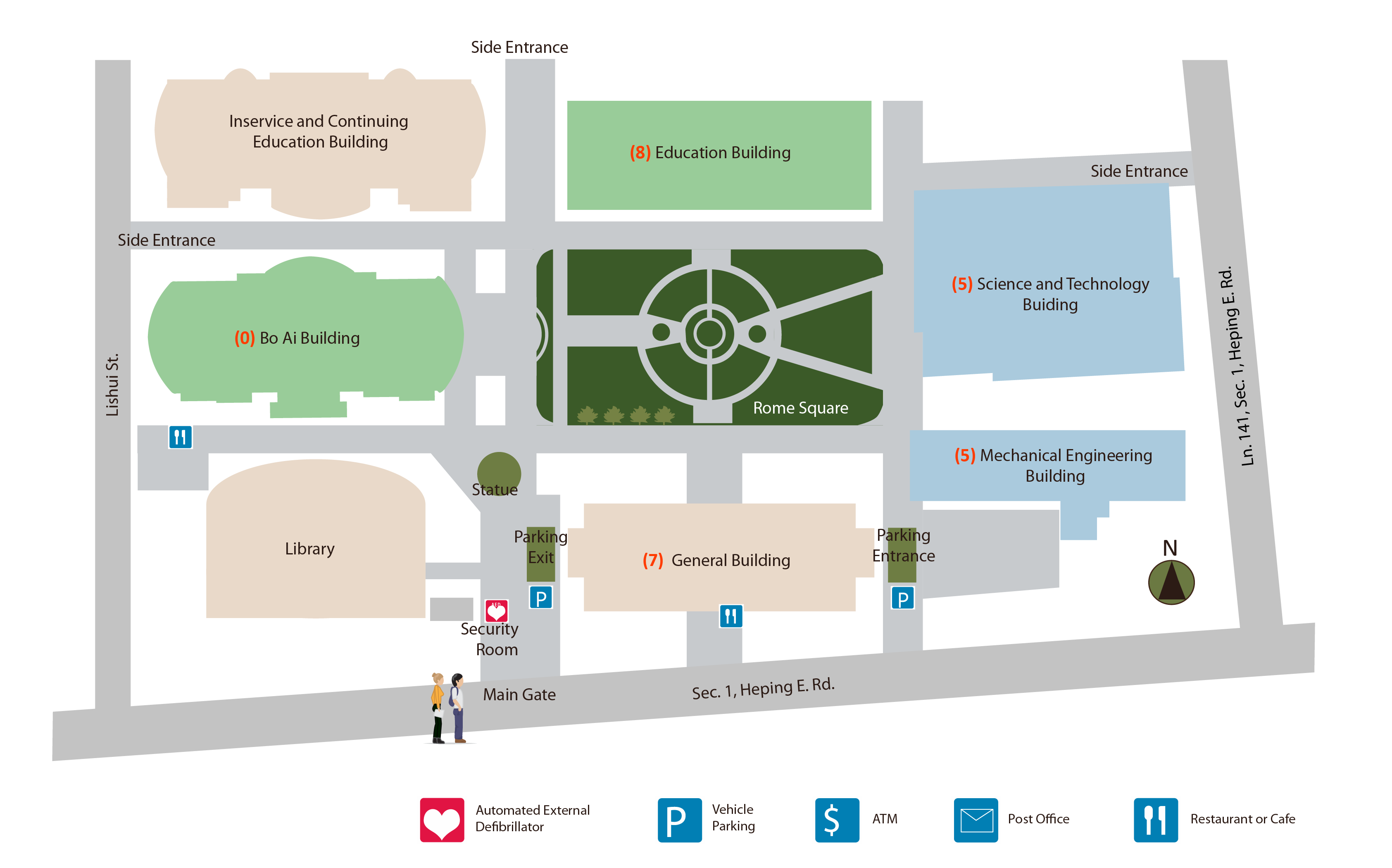 Roosevelt University Campus Map.Maps Directions College Of Education National Taiwan Normal